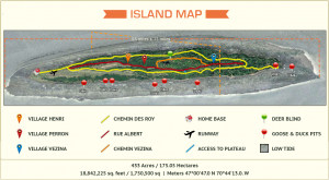 Ile Reaux Dimensions and Map